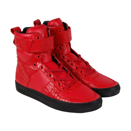 feca778b41c8 Radii - Radii Vertex Mens Red Leather High Top Lace Up Sneakers Shoes -  Walmart.com