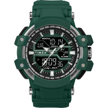 Bug Watch - Men's Tactic DGTL Big Combo Marine Green/Gray Watch, Resin Strap