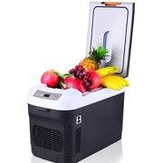 SMG Cooler Car Refrigerator,Camping Portable Travel Refrigerator Warmer Heating ction Intelligent Fridge Mini Refrigerator Cooler Boxfor Picnics,BBQs,Camping