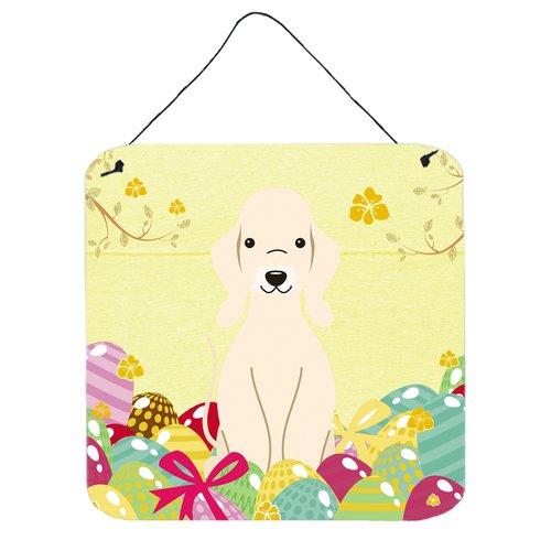 The Holiday Aisle Easter Eggs Bedlington Terrier Metal Wall D cor