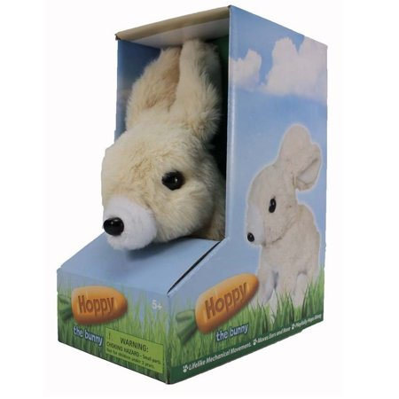 - Hoppy The Mechanical Bunny, Plush toy, hops and squeaks. By Westminster