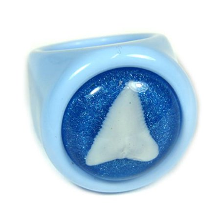 ED SPELDY EAST OR033-7 Ring Shark Tooth Blue with Blue Background Size 7