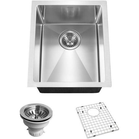 Houzer CNB-1200 Savoir Series 10mm Radius Undermount Prep Bowl Kitchen Sink, Small