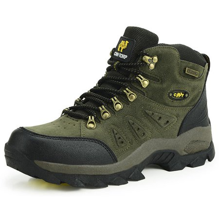 Fashion Unisex Hiking Shoes High Top Waterproof Winter Warm Non-slip Wearable Damping Comfortable Breathable Boots Outdoor Trekking Climbing (Best Comfortable Hiking Boots)