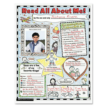 Scholastic Instant Personal Poster Sets, Read All About Me, 17