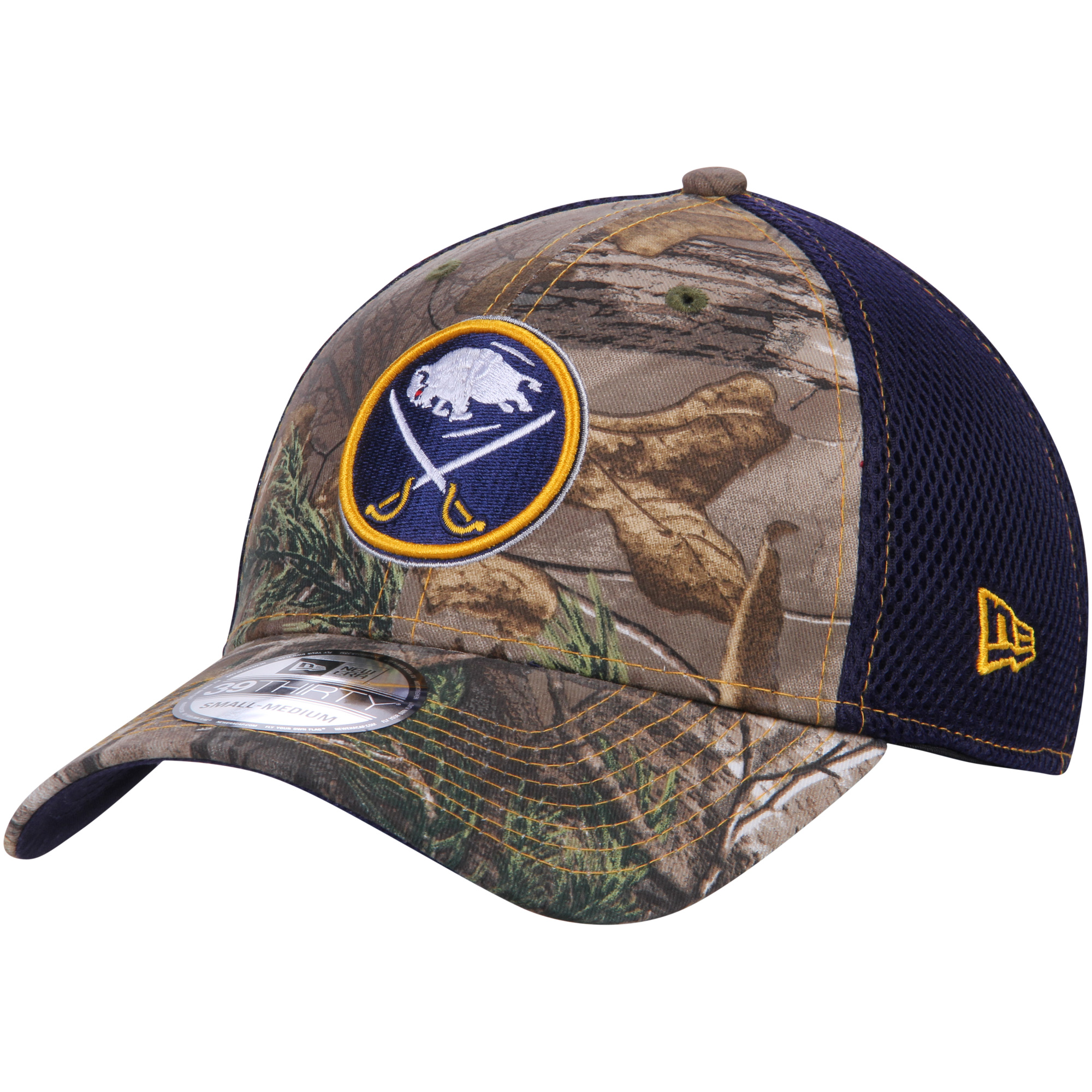 Buffalo Sabres New Era Neo 39THIRTY Flex Hat - Realtree Camo/Navy