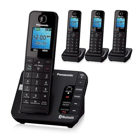 Panasonic KX-TGH264B DECT 6.0 Plus Technology 4 Handset Expandable Cordless Phone by
