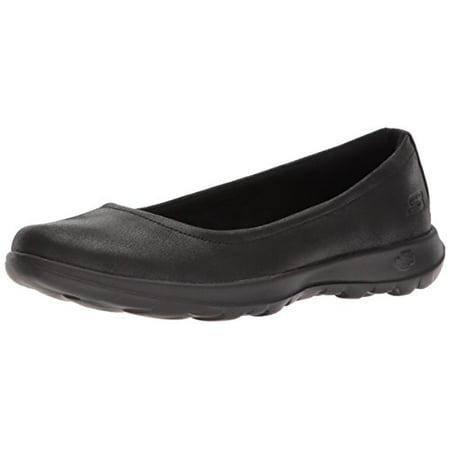 Skechers Performance Women's Go Walk Lite-15395 Ballet Flat, Black, 6.5 M US