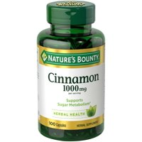 Nature's Bounty--Cinnamon Herbal Supplement for Fat and Sugar Metabolism Support*--1000mg Capsules, 100 Count (Pack of 3)