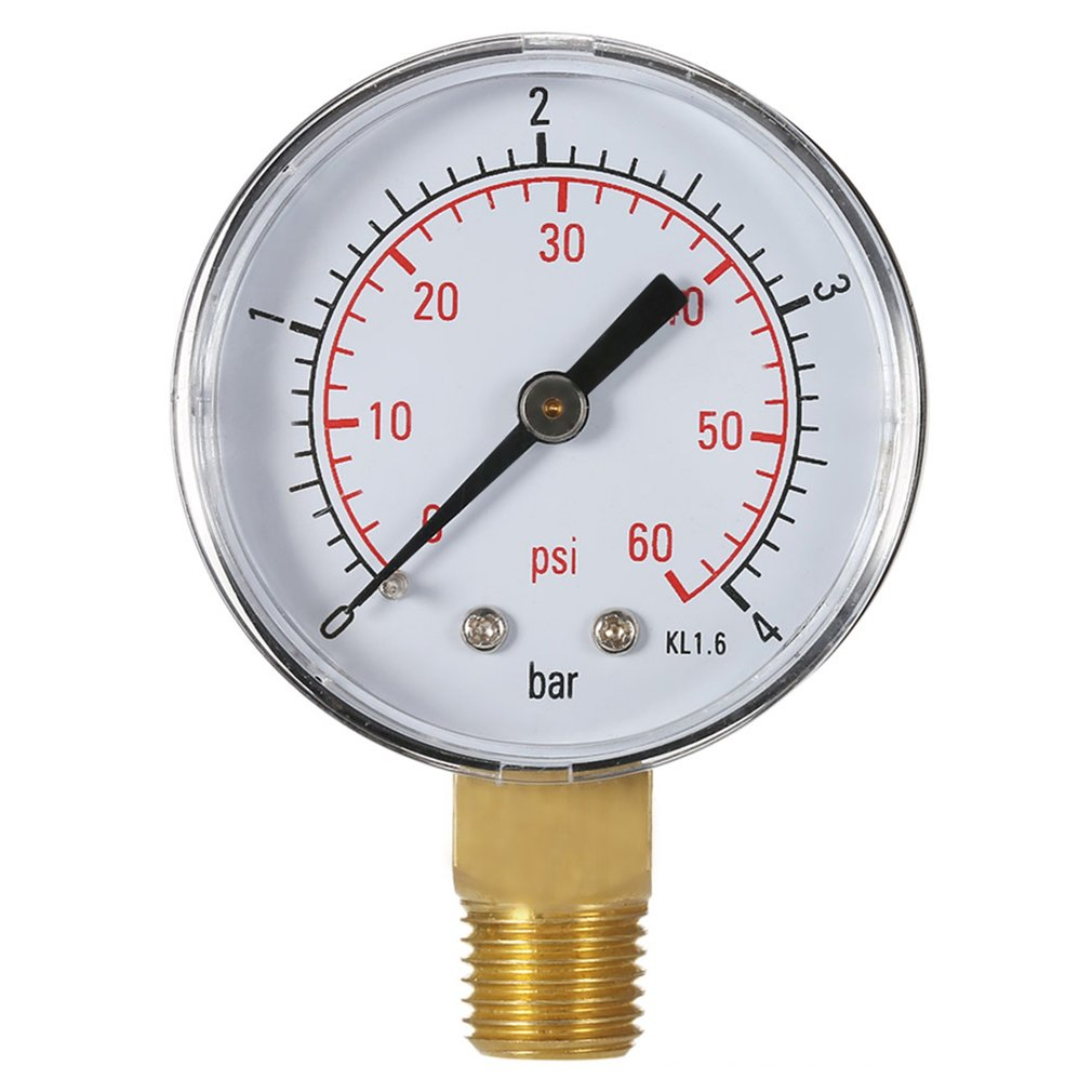 Practical Pool Spa Filter Water Pressure Gauge Mini 0-60 PSI 0-4 Bar Side Mount 1/4 Inch Pipe Thread NPT TS-50