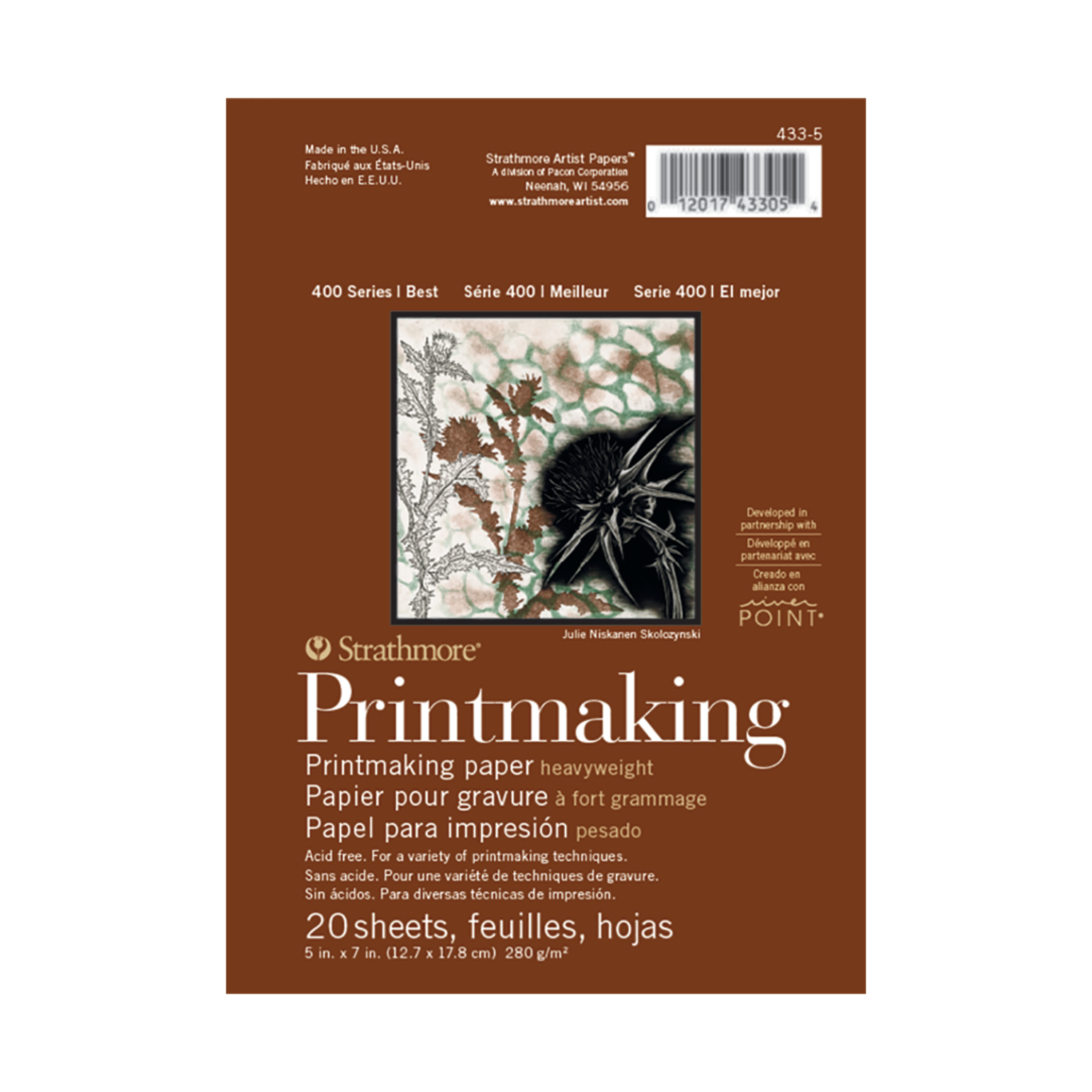 Strathmore Printmaking heavyweight Pad, 400 Series, 5in x 7in 20 Sheets
