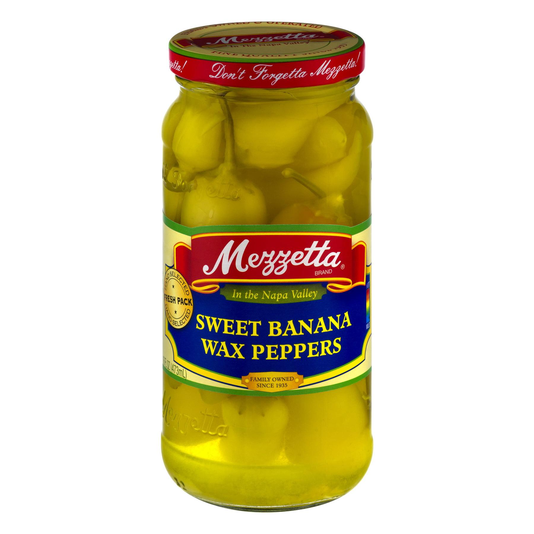 (6 Pack) Mezzetta Sweet Banana Wax Peppers, 16.0 FL OZ