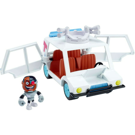 Teen Titans Go! T-car and Cyborg Vehicle and Figure