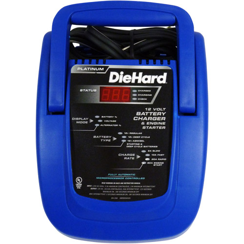 Diehard 80/20/10/2 Amp Fully Automatic Battery Charger with Emergency Engine Start (Not Sold in OR or CA)