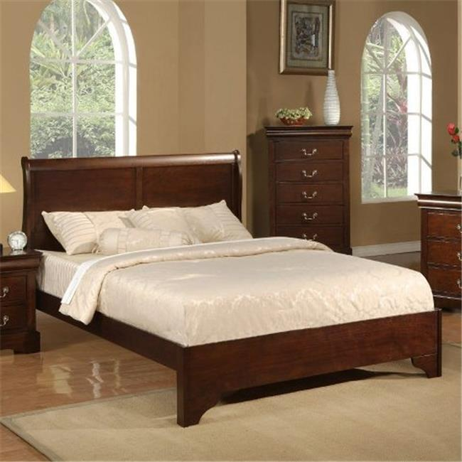 alpine furniture 2200ek west haven eastern king low footboard sleigh bed cappuccino x
