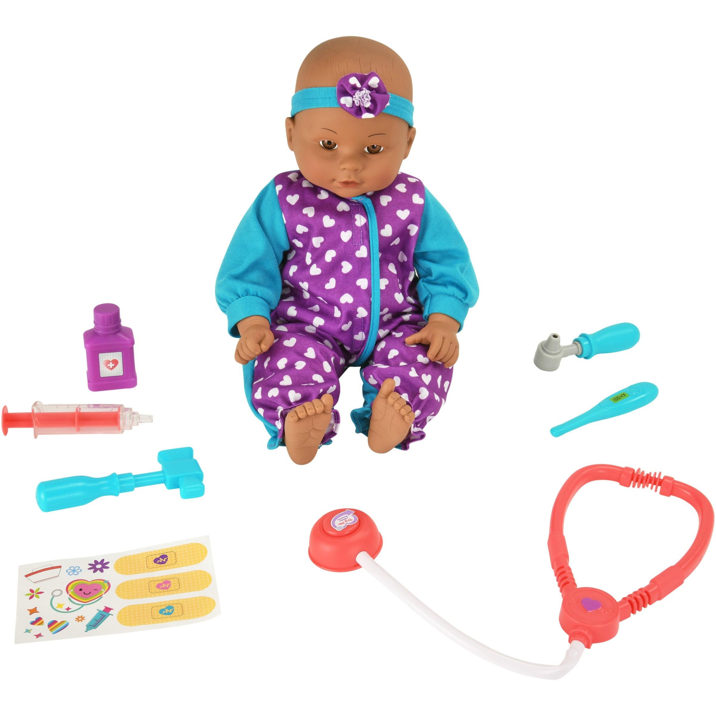 My Sweet Love 16-piece Purple & Teal Baby Doll Doctor Play Set