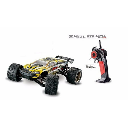 Rtr 2wd Stadium Truck - 1/12 Scale 2.4Ghz Radio Remote Control 2WD Off Road Racing Truck Truggy 38+Kmh R/C RTR (Yellow)