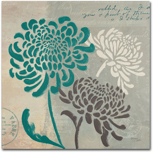 "Trademark Fine Art ""Chrysanthemums I"" Canvas Art by Wellington Studio"