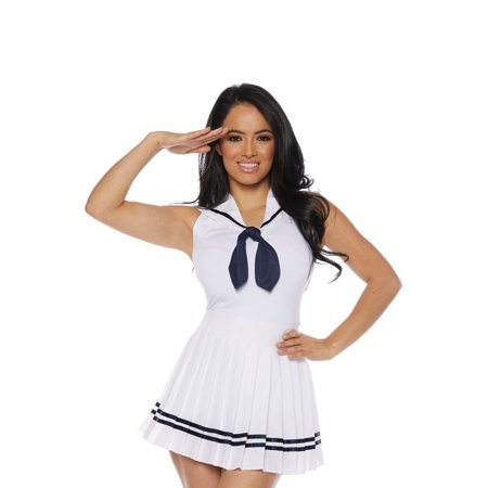 Sailor Skirt Set Adult Costume (White)](Sailor Costumes For Girls)