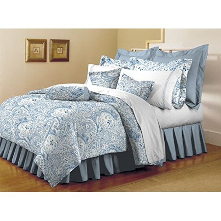 - Mellanni Fitted Sheet Twin Paisley-Blue - Brushed Microfiber 1800 Bedding - Wrinkle, Fade, Stain Resistant - Hypoallergenic - (Twin, Paisley Blue)