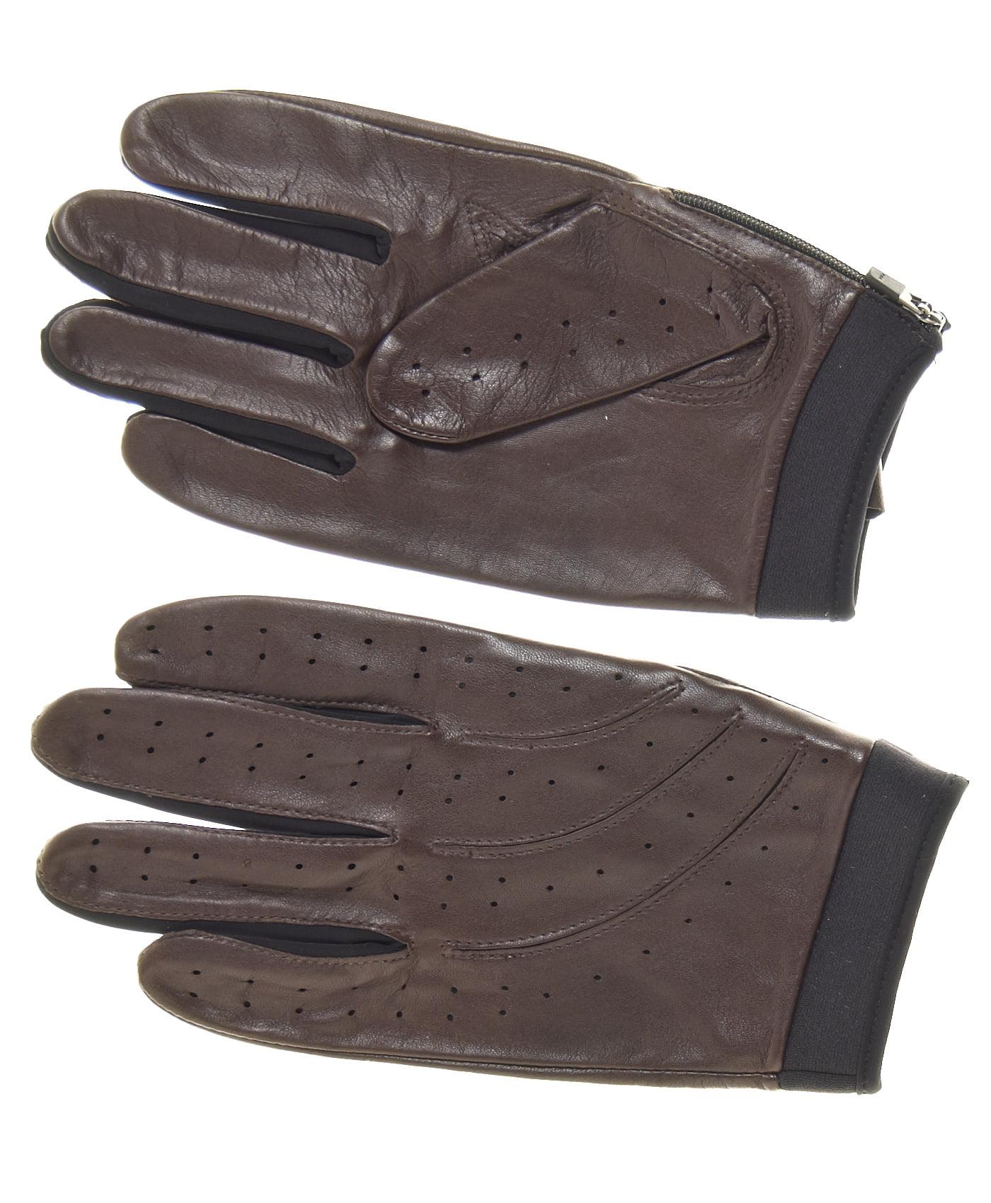 Driving gloves at walmart - Pratt And Hart Men S Hugger Leather Lycra Driving Gloves