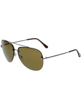 8f86a2911c249 Product Image Tom Ford Men s Mirrored Brad FT0584-08E-63 Grey Aviator  Sunglasses