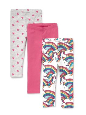 The Children's Place Printed Leggings, 3-pack (Baby Girls & Toddler Girls)