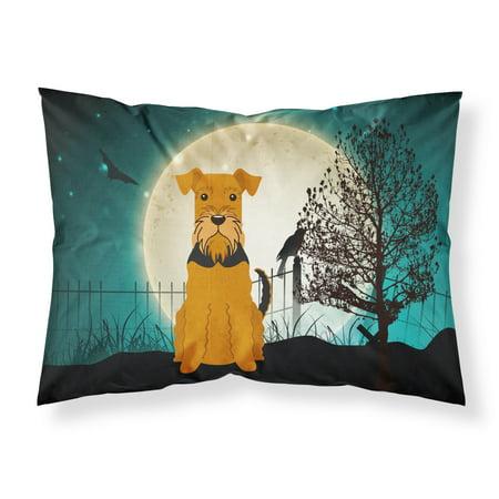 Halloween Scary Airedale Fabric Standard Pillowcase BB2231PILLOWCASE