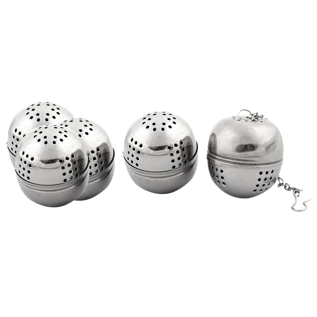 Stainless Steel Leaf Tea Spice Perfume Infuser Strainer Ball 4cm Dia 5 PCS