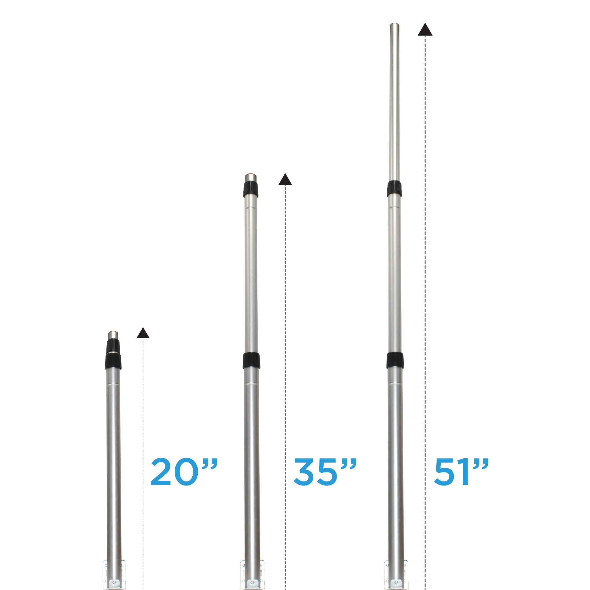 TRAM 1499 CB Base Antenna No Ground Plane For All Applications