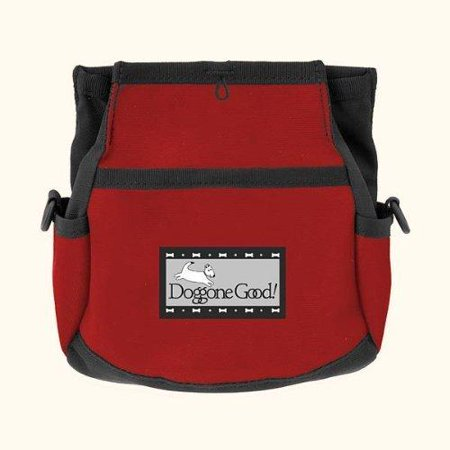 Rapid Rewards Deluxe Dog Training Bag with Belt by Doggone Good (Red) ()