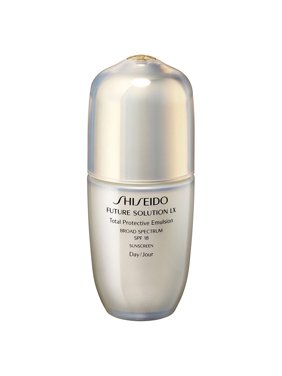 ($240 Value) Shiseido Future Solution LX Total Protection Emulsion Facial Serum, SPF 18, 2.5 Oz