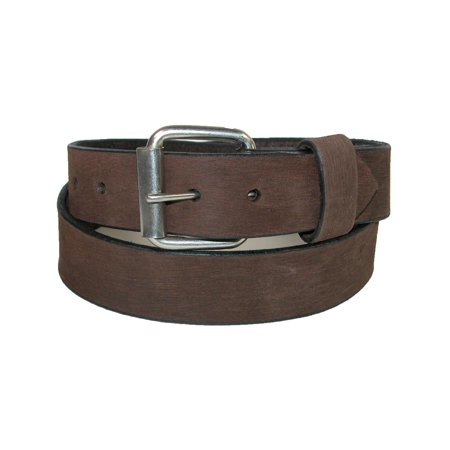 1.5 Inch Leather - Men's Big & Tall Bark Leather 1.5 Inch Belt