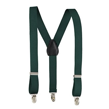 Fit Rite Kids and Baby Adjustable Elastic Solid Colors Unisex Children Suspenders (30 Inched (8yrs. - to 5 feet tall), Hunter (Convert Inches To Feet And Inches Calculator)