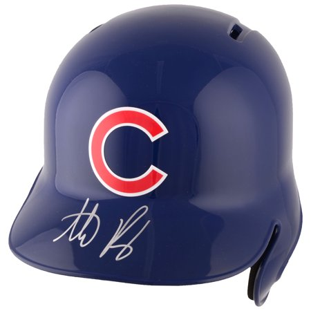 Chicago Cubs Autographed Helmets - Anthony Rizzo Chicago Cubs Fanatics Authentic Autographed Replica Batting Helmet - No Size