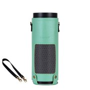 Mosiso Protective Case for Amazon Echo - Premium PU Leather Cover Sleeve Skins (Upgraded Edition), Mint Green Silky Pattern