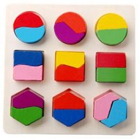 Staron Kids Baby Wooden Tetris Geometry Building Blocks Puzzle Early Learning Educational Toy