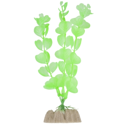(2 Pack) GloFish Green Fluorescent Aquarium Plant Decoration, Medium