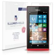 iLLumiShield Phone Screen Protector w Anti-Bubble/Print 3x for Huawei Ascend W1
