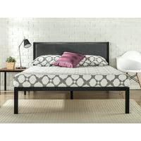 "Zinus Korey 14"" Metal Platform Bed with Upholstered Headboard, Multiple Sizes"