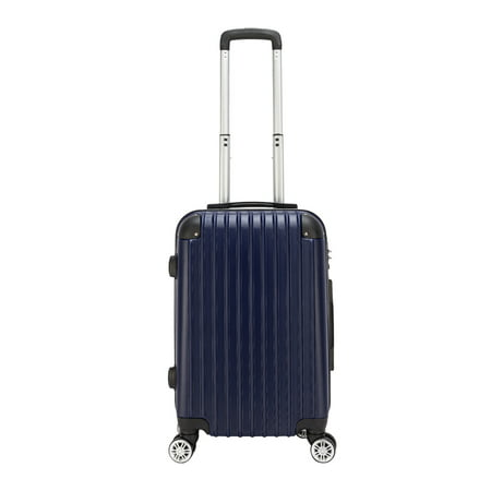 Lightweight Rolling Tote - 20 inches Luggage on Sale, Waterproof Portable Carryon Suitcase with TSA Lock, Portable Lightweight ABS Luggage with Rolling Wheels, Spinner Suitcase for Traveling, Navy Blue, S13385