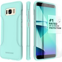 SaharaCase Galaxy S8 Case, Classic Protection Kit with ZeroDamage Tempered Glass – Aqua