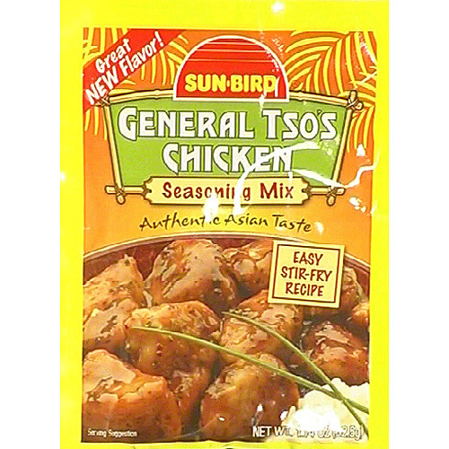 Sun-Bird General Tso's Chicken Seasoning Mix, 1.14 oz, (Pack of 24)