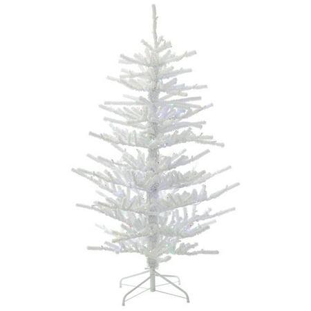 Flocked Twig Christmas Tree with Multi-Colored LED Lights ...