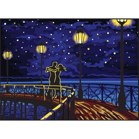 Needlepoint Canvas Tapestry - Collection D'Art Needlepoint Printed Tapestry Canvas 30X40cm-Dance