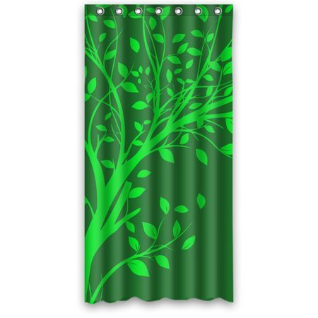 EREHome Green Tree of Life Leaves Shower Curtain Polyester Fabric Bathroom Decorative Curtain Size 36x72 Inches - image 1 of 1