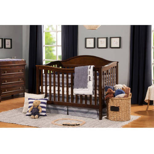 DaVinci Laurel 4-in-1 Convertible Fixed-Side Crib with Toddler Bed Conversion Kit