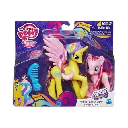 6a37a61bd10 My Little Pony Princess Cutie Mark Magic Princess Gold Lily and Pinkie Pie  Figure Set - Walmart.com
