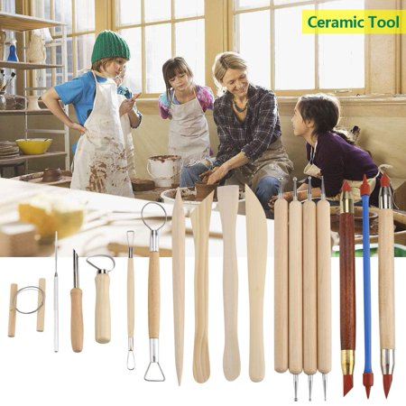 Zerone 42Pcs Ceramic Pottery Crafts Tools Set Clay Sculpting Carving Modeling Combination Tool Kit, Pottery Tool, Pottery Modeling