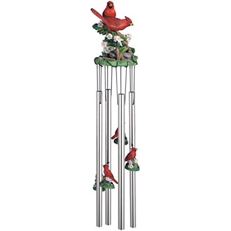 Wind Chime Round Top Cardinals Hanging Garden Decoration Windchime (Hanging Chimes)